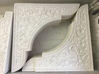 Moroccan Interior Wall Design. Slightly Damaged Gypsum Plaster Arch, Size: 70cm