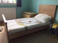 Bonito Bebe nursery set - cot/toddler bed, wardrobe and changing unit