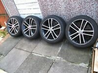 "Vauxhall Limited Black Edition 17"" Inch Alloy Wheels & Tyres. Corsa/Astra/Vectra/Zafira/SRi/VXR/CDTI"