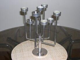 Candelabra With Nine Tea Lights 12 ins Tall