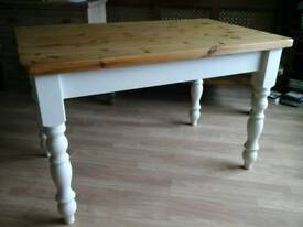 Pine/Painted Farmhouse Dining Table