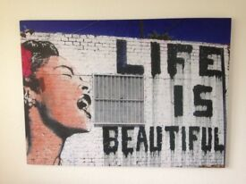 """Life is beautiful"" canvas picture"