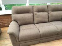 Parker knoll sofa + chair