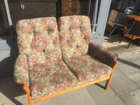 Vintage 2 seater couch , in good condition. Narrow great for space saving. Free Local Delivery.