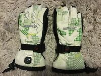 Ski gloves with compass childrens