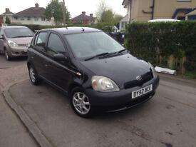 2002 toyota yaris 1.0 vvti petrol manual 5 door black long mot some service nice little car