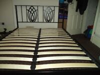 Double Bed Metal Frame Excellent Condition