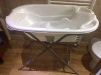 Acqua Bambino Two Stage Bath + Aquascale Baby Bath Stand combo