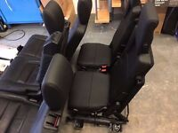 LAND ROVER DISCOVERY 3 & 4 FULL BLACK LEATHER INTERIOR 7 SEATS CONVERSION KIT