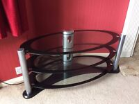 Expensive Glass TV Stand For Sale, Amazing Condition