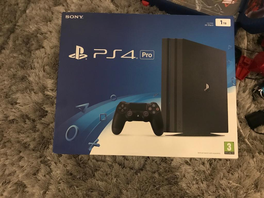 New Sony Playstation 4 Games : Brand new sealed sony playstation pro tb black game
