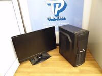 Complete Gaming PC Package with 24 inch Monitor (AMD 3.6GHz, R9 270, 8GB RAM) - Computer