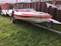 Speed boat Detaline bounty 17ft with trailer, Yamaha outboard, ready to use.