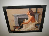 Jack Vettriano Framed Canvas Model In White