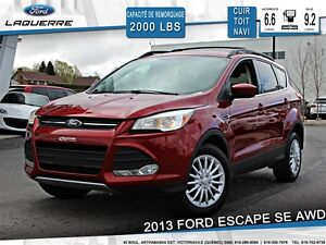 2013 Ford Escape **SE*AWD*CUIR*NAVI* TOIT*CRUISE*A/C**