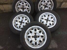 4 MK 1 VW Golf Cabriolet /Audi 80 Alloy Cookie Cutter Wheels