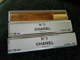 2 x 33ml chanel no 5 edp parfum 66ml