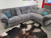 DFS LARGE GREY COMFY CORNER SOFA - EXCELLENT CONDITION - FREE DELIVERY