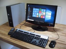 PC System with HD Monitor/ TV, Keyboard, Mouse. Wi-Fi. Dual Core, Win 10. Excellent Condition.