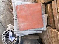 450 Genuine Quarry Tiles 6x6