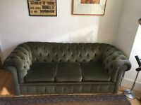 Chesterfield Sofa - Green Velvet