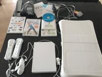 Nintendo Wii and Four DVD Games