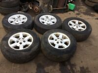 set of 5 landrover discovery alloys
