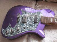 Metallic Purple Electric Guitar mint perfect condition rare