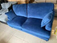 Brand New Blue Velvet 3 Seater Sofa