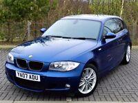 STUNNING!! BMW 1 SERIES 2.0 118D - M SPORT - 3DR -MANUAL -LEMANS BLUE EDITION - 12 MONTHS MOT - FSH
