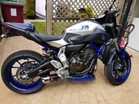 MT07 2017 Reg Race Blue fully loaded