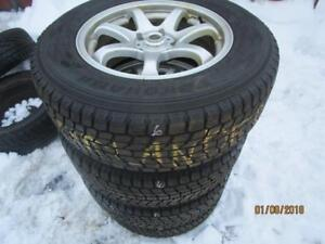 215/70R16 SET OF 4 USED YOKOHAMA WINTER TIRES ONLY