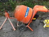 Belle 150 mini 110 volts cement mixer with powerpack and stand