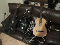 antique parlour guitar