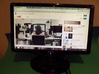 "19"" LCD Flat Screen Monitor PC Computer VIEWSONIC VA11931wa Wide Screen BLACK"