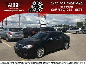 2012 Chrysler 200 Loaded; Leather, Roof, Navi, Back-Up Camera an