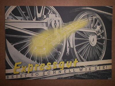1938 EXPRESSGUT PROSPEKT BERLINER REICHSBAHN WERBEAMT VORKRIEG DR EISENBAHN *70