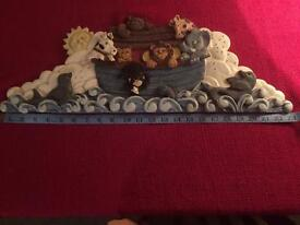 Glorious Plaster Plaque Of Noah's Ark