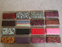 50 BRAND NEW GIFT BOXED PU LEATHER VARIOUS DESIGNED/COLOURED PURSES