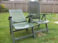 Reclining Garden Chairs x 2