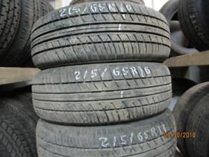 215/60R16 SET OF 4 MATCHING USED A/S TIRES