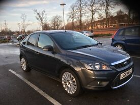 59 FORD FOCUS 2.0 TDCI TITANIUM 5 DR GREY MET DRIVES AND LOOKS GREAT OCT MOT 2017