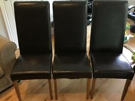 6 Barker & Stonehouse high back leather chairs