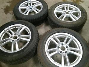 """18"""" BMW X5 and X6,ACURA MDX WINTER PACKAGE,5X120 ALLOY RIMS WITH 255/55R18 DUNLOP RUN FLAT USED WINTER TIRES FOR SALE"""