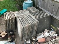 FREE Paving Slabs - not pretty but all intact