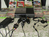 XBOX 360 E Slim with games and accessories (can deliver SOT area).