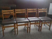 4 pine kitchen chairs