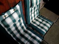 Garden chair padded cushions