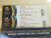 Tickets icc champion trophy final india vs pakistan 2x