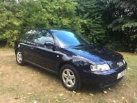 2003 (03) Audi A3 1.8 Petrol 3dr Blue Manual S/H 68000 Miles Stunning Clean Car